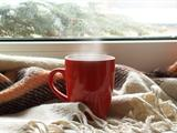 Coffee mug by window
