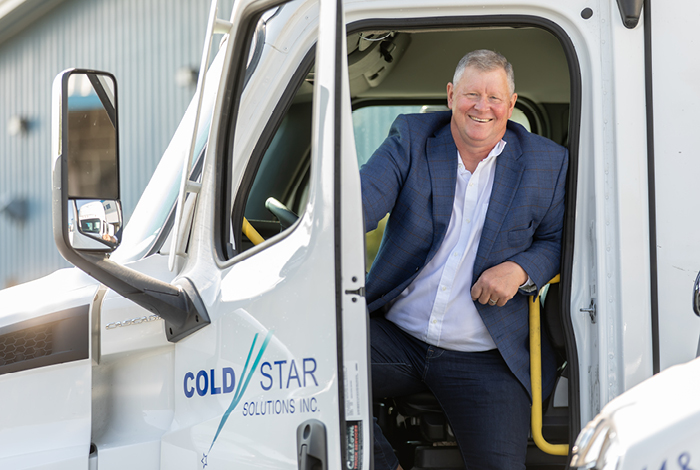 Man sitting in a Cold Star truck.