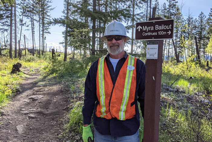 Brad Wright, recently retired FortisBC safety and environment manager, volunteers his time to help maintain the extensive trail network on Kelowna's southern slopes.