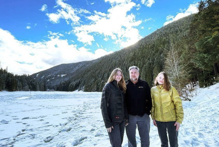 Cottonwood Lake provides a four season playground for Blair Weston and his daughters, Macy and Jordan.