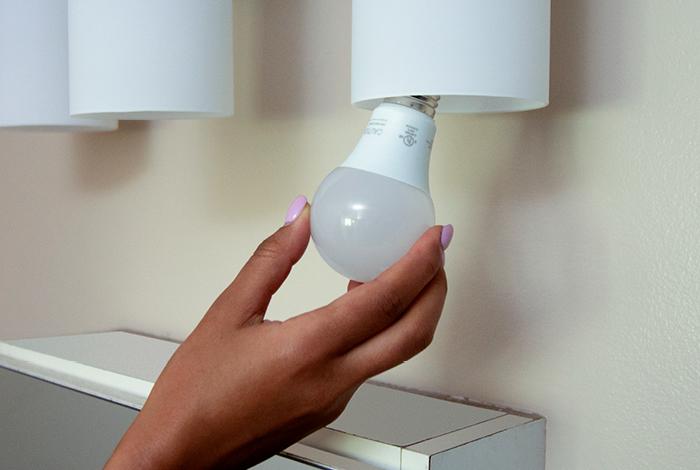 Twisting in a lightbulb