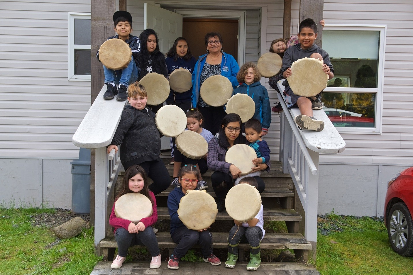 members-of-the-beecher-bay-youth-drum-group