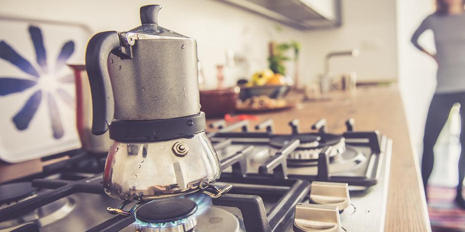 Moka Pot on the stove