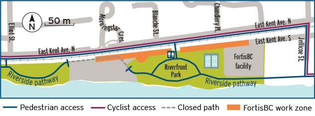 East Kent Avenue gas line upgrade map