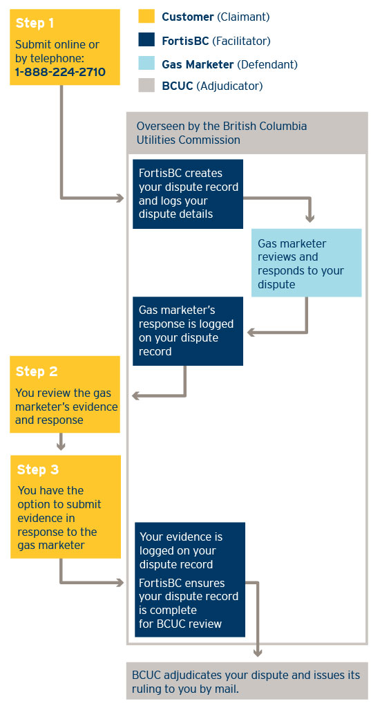 A flow chart style illustration showing the dispute process (12-280.5.1)